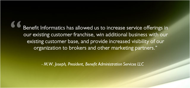 Benefit Administration Services LLC Testimonial